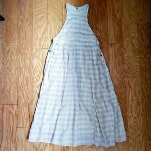 Beige checkered spring/summer dress